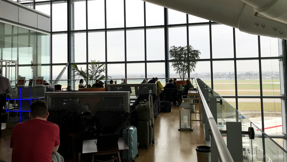 British Airways Galleries Club Lounge Heathrow London terrasse