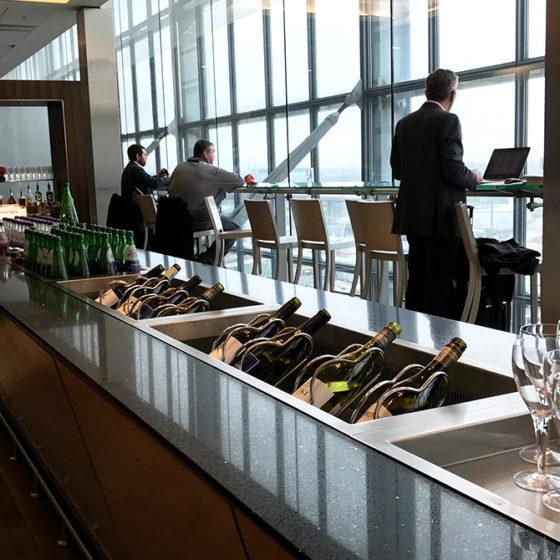 British Airways Galleries Club Lounge Heathrow London drikke