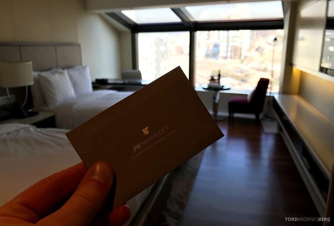 JW Marriott Dongdaemun Square Hotel Seoul velkommen kort
