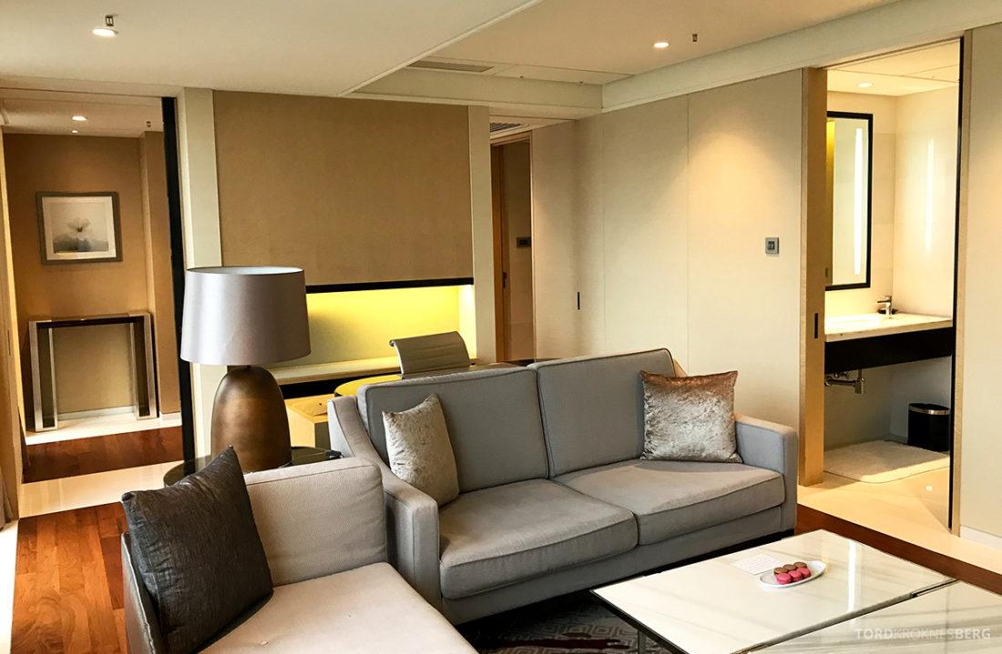 JW Marriott Dongdaemun Square Hotel Seoul suite sofa