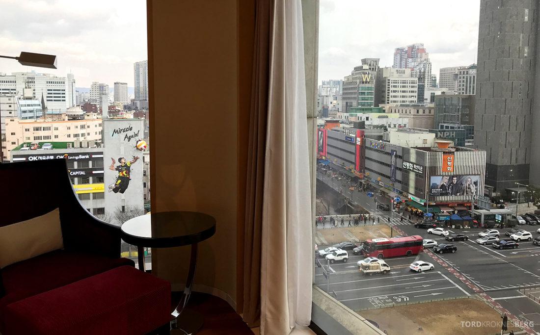 JW Marriott Dongdaemun Square Hotel Seoul suite utsikt soveværelse