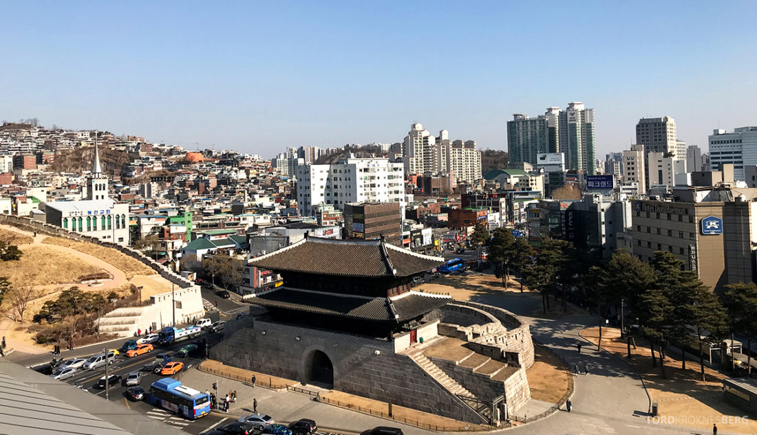 JW Marriott Dongdaemun Square Hotel Seoul Executive Lounge utsikt
