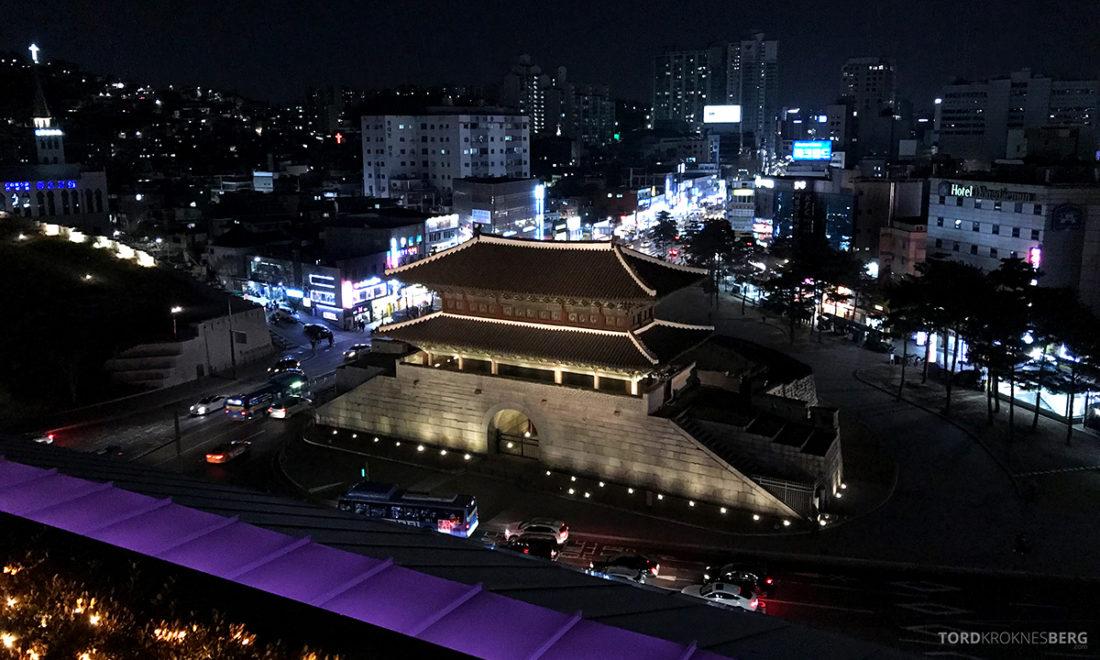 JW Marriott Dongdaemun Square Hotel Seoul Executive Lounge utsikt natt