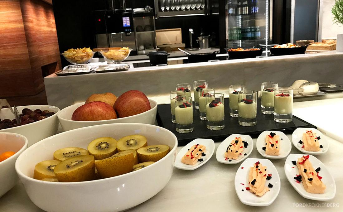 JW Marriott Dongdaemun Square Hotel Seoul Executive Lounge småretter hors d'oeuvre