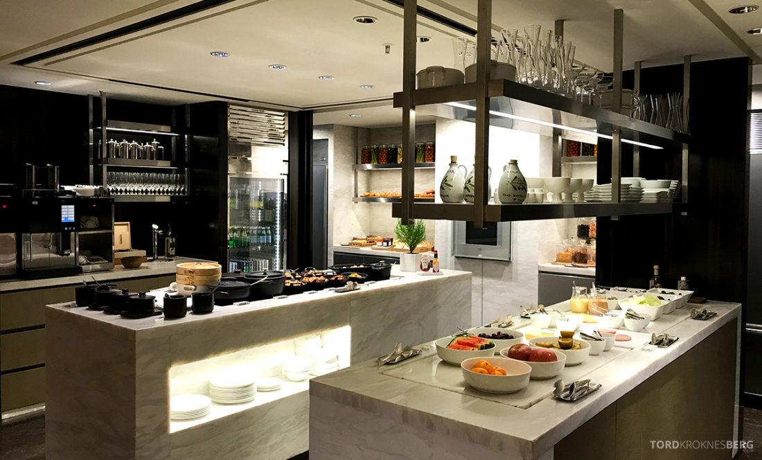 JW Marriott Dongdaemun Square Hotel Seoul Executive Lounge oversikt hors d'oeuvre