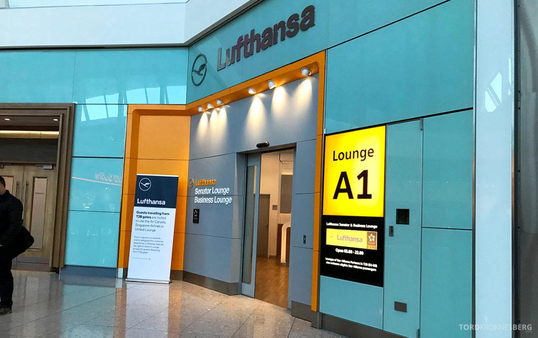 Lufthansa Senator Lounge London Heathrow hovedinngang