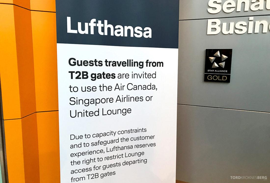 Lufthansa Senator Lounge London Heathrow begrensninger