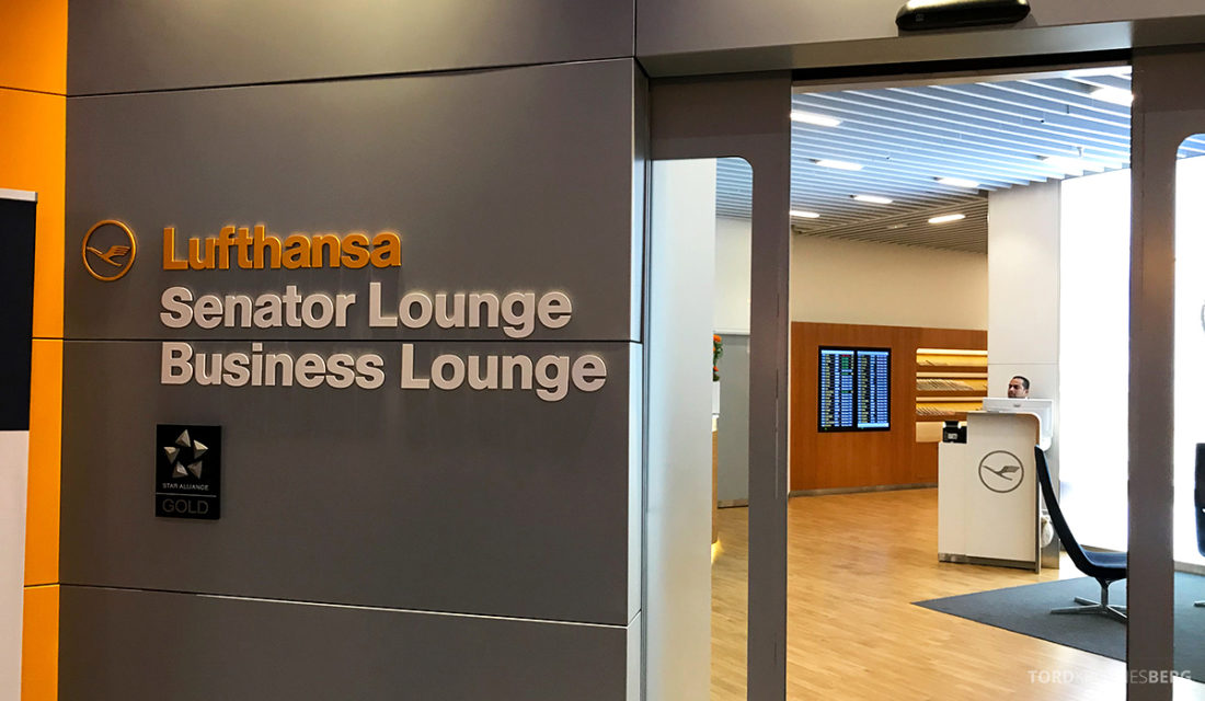 Lufthansa Senator Lounge London Heathrow inngang