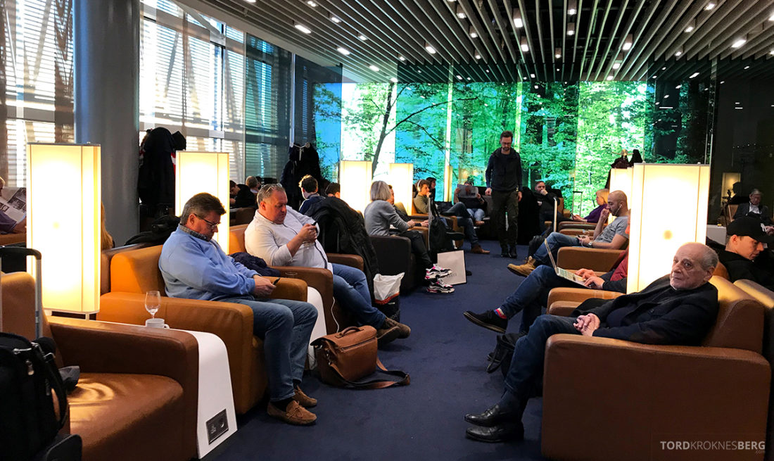 Lufthansa Senator Lounge London Heathrow fullt