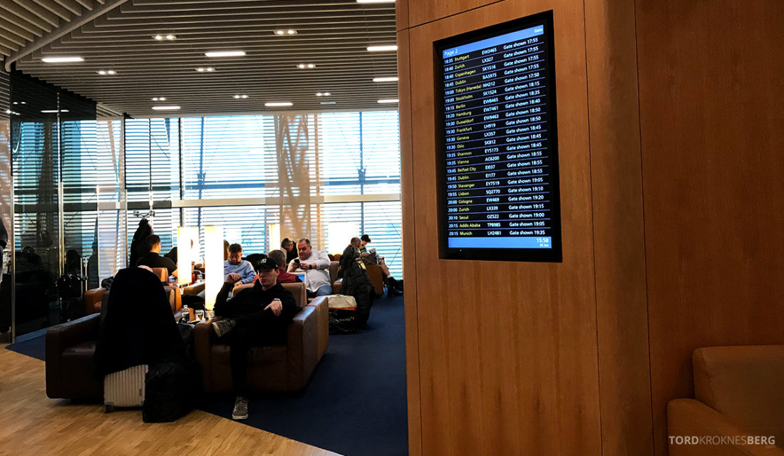 Lufthansa Senator Lounge London Heathrow tavle