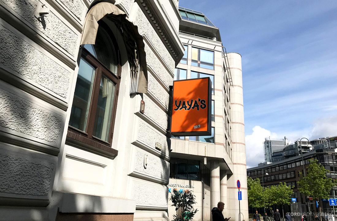 Yaya's Restaurant Oslo fasade