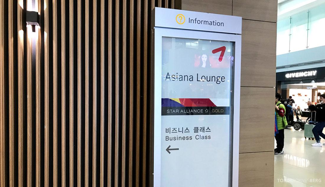 Asiana Business Lounge Seoul skilt