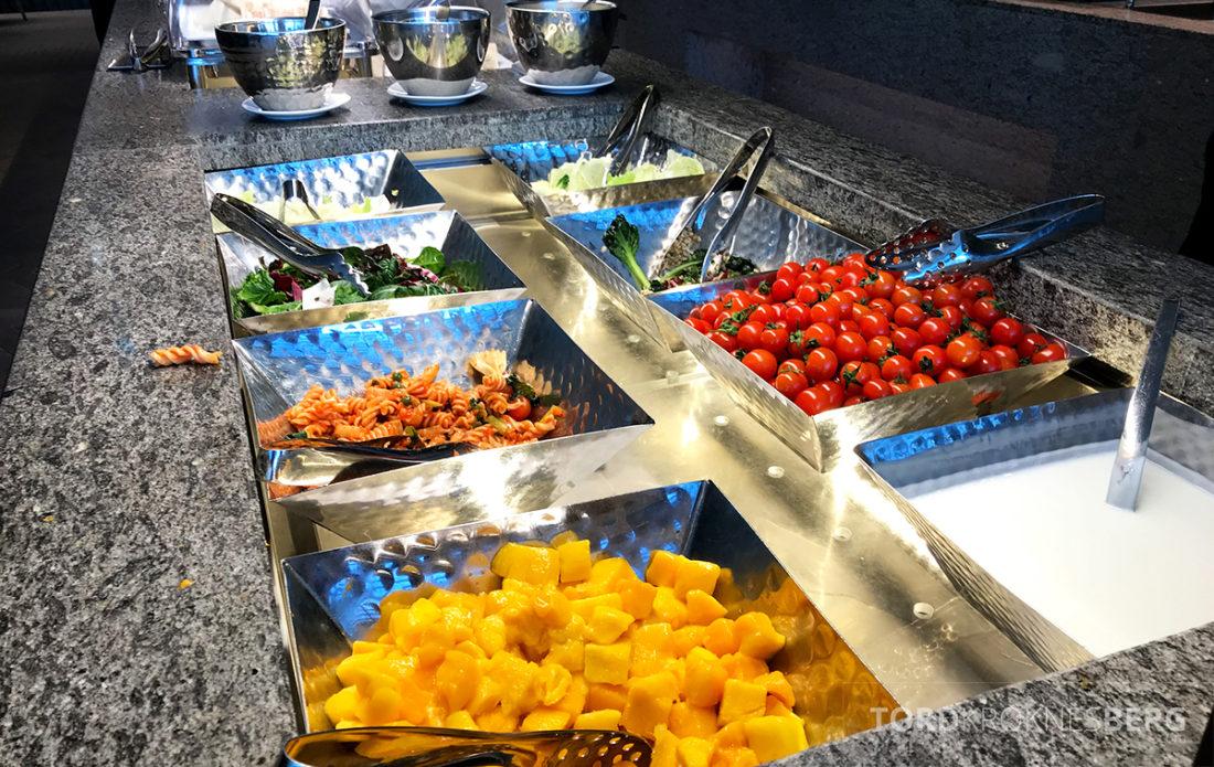 Asiana Business Lounge Seoul pasta og frukt