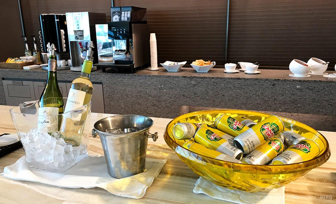 Asiana Business Lounge Seoul øl og vin