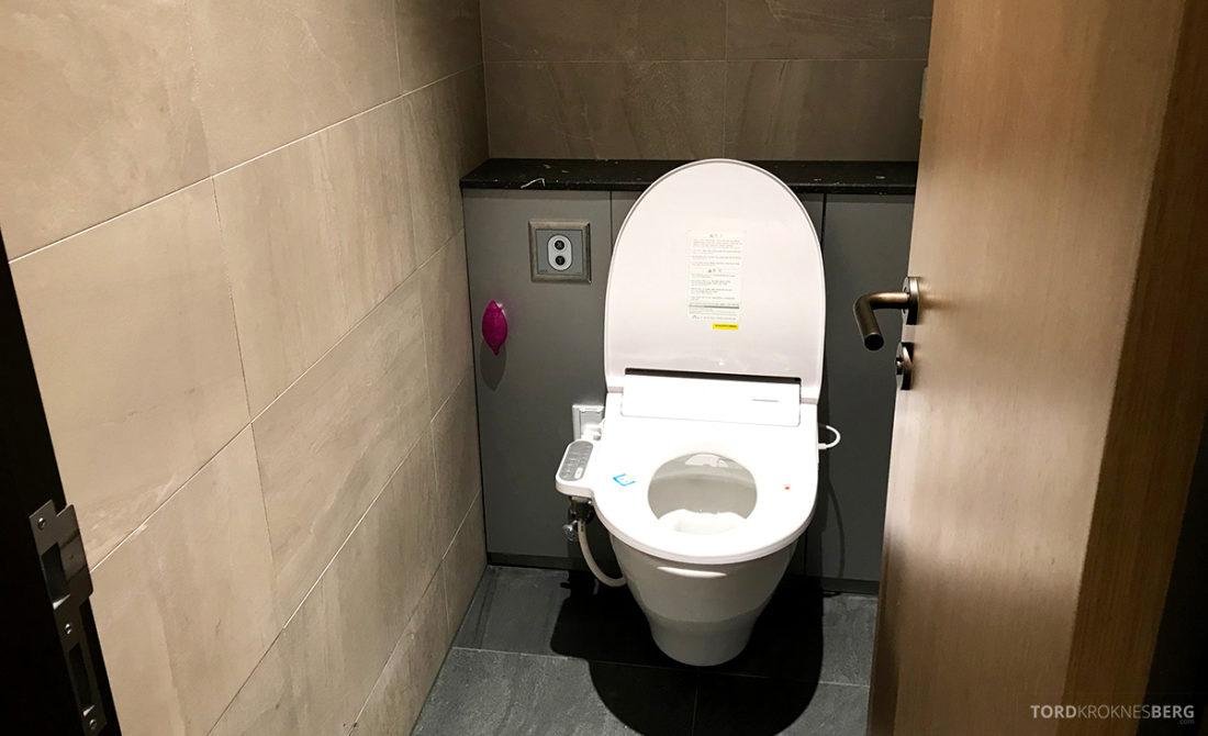 Asiana Business Lounge Seoul toalett teknologisk