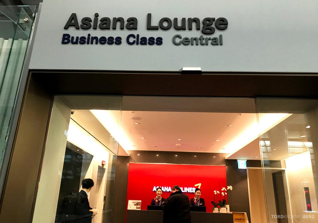Asiana Business Lounge Seoul resepsjon