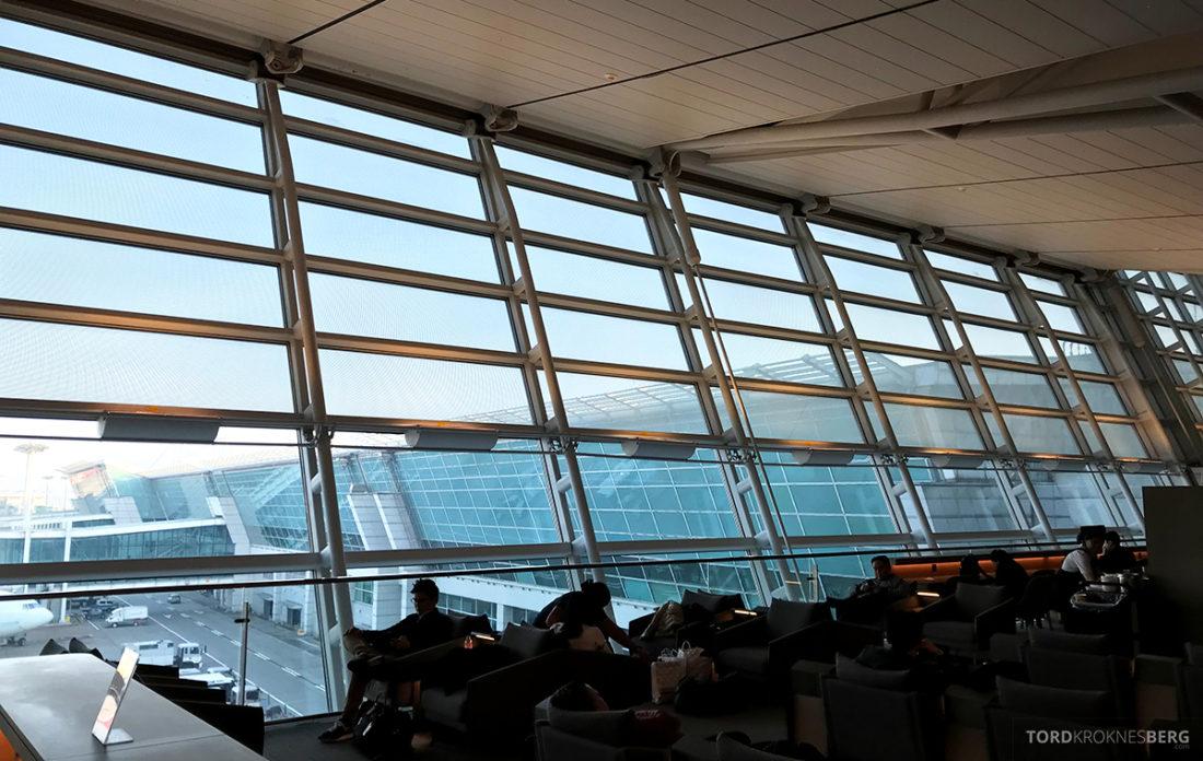 Asiana Business Lounge Seoul utsikt