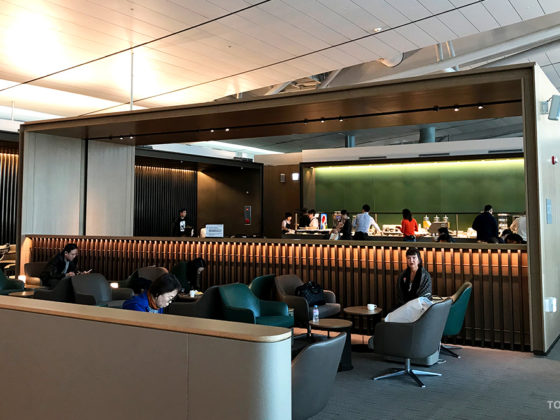 Asiana Business Lounge Seoul oversikt buffet