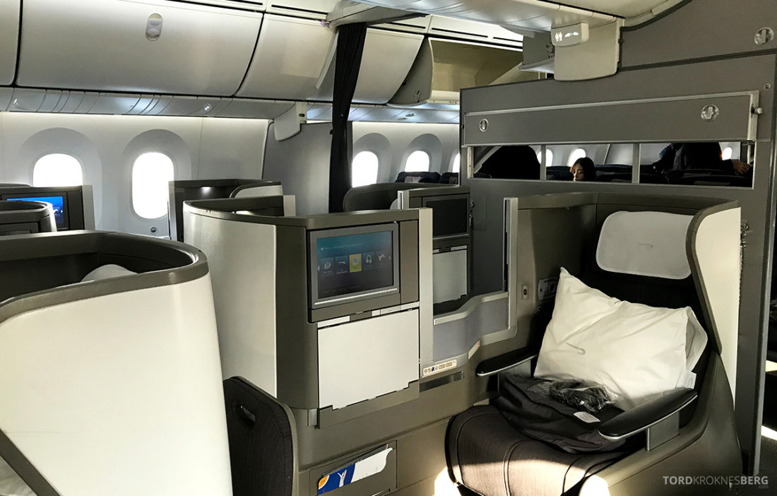 British Airways Club World Seoul London kabin