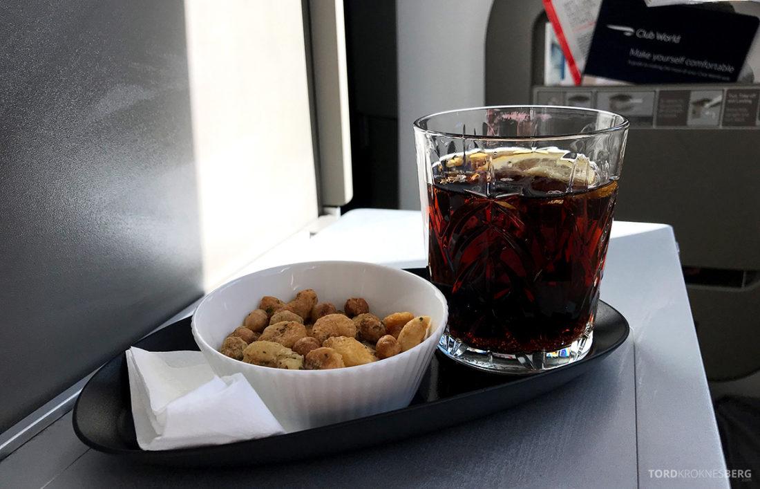 British Airways Club World Seoul London aperitiff