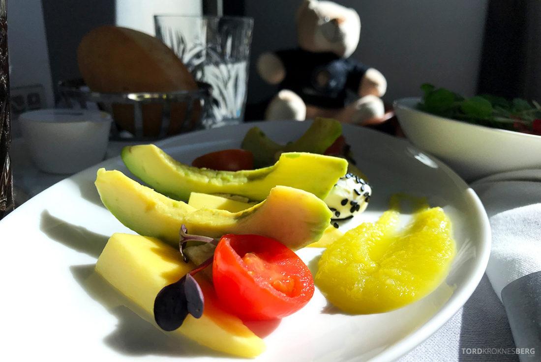 British Airways Club World Seoul London vegetarisk forrett