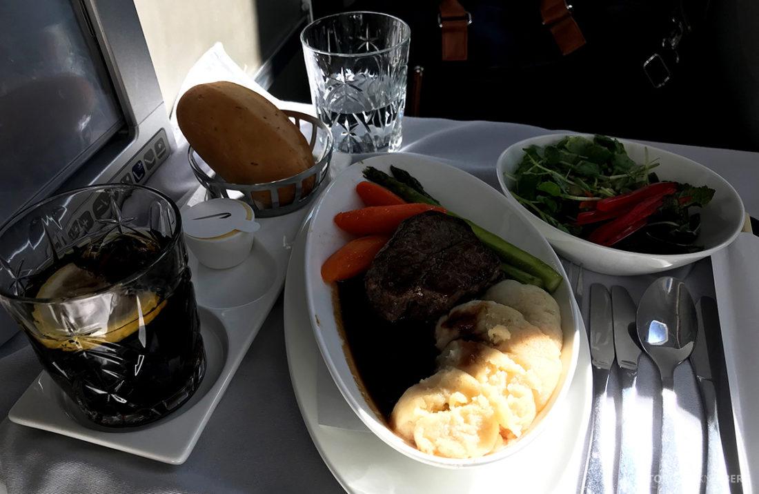 British Airways Club World Seoul London indrefilet hovedrett