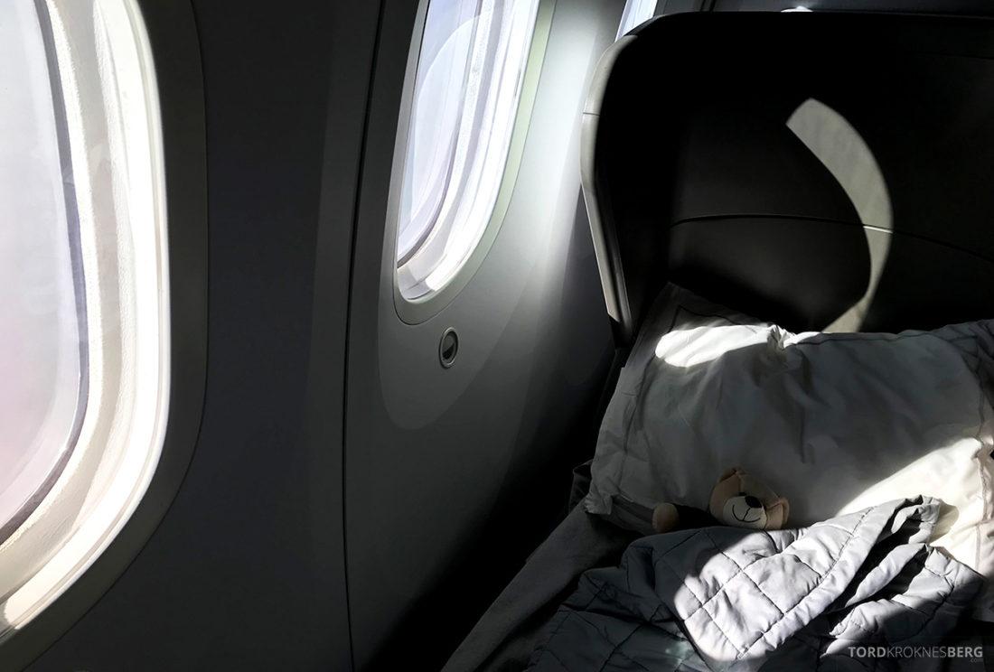 British Airways Club World Seoul London reisefølget seng