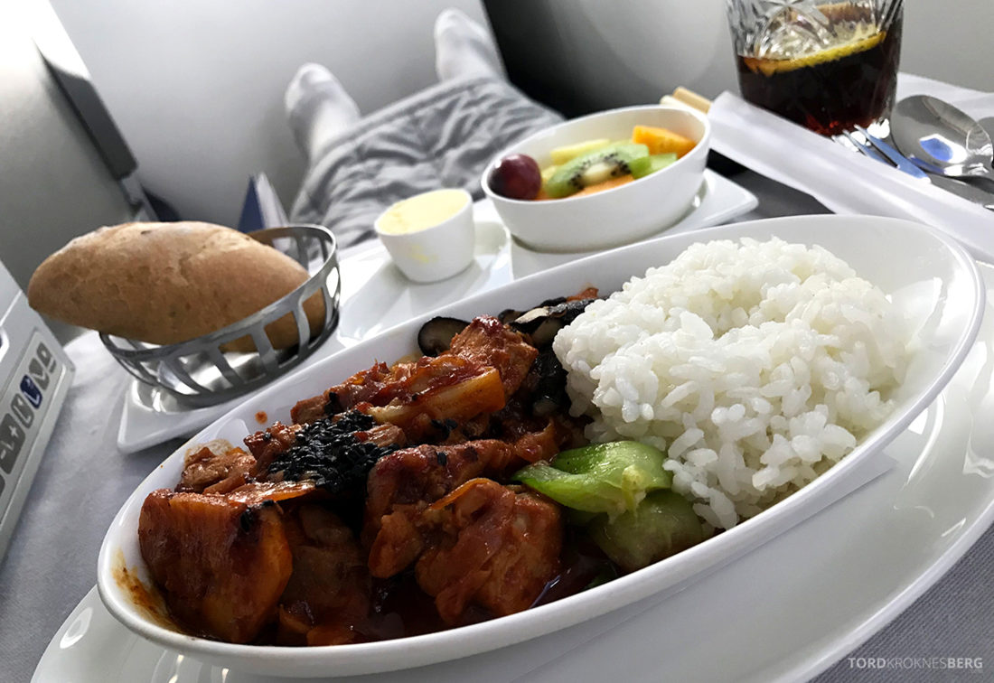 British Airways Club World Seoul London kylling hovedrett