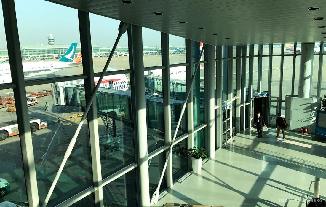 British Airways Club World Seoul London boarding