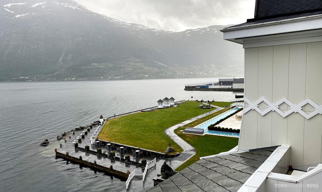 Hotel Ullensvang Hardanger Norge utsikt basseng