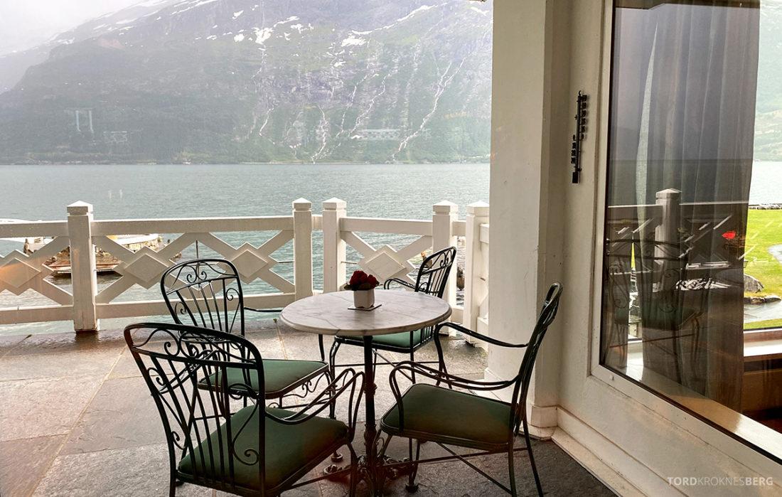 Hotel Ullensvang Hardanger Norge terrasse