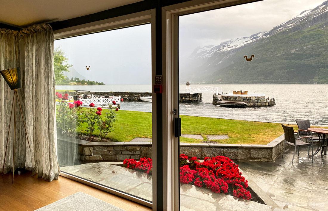 Hotel Ullensvang Hardanger Norge utsikt have