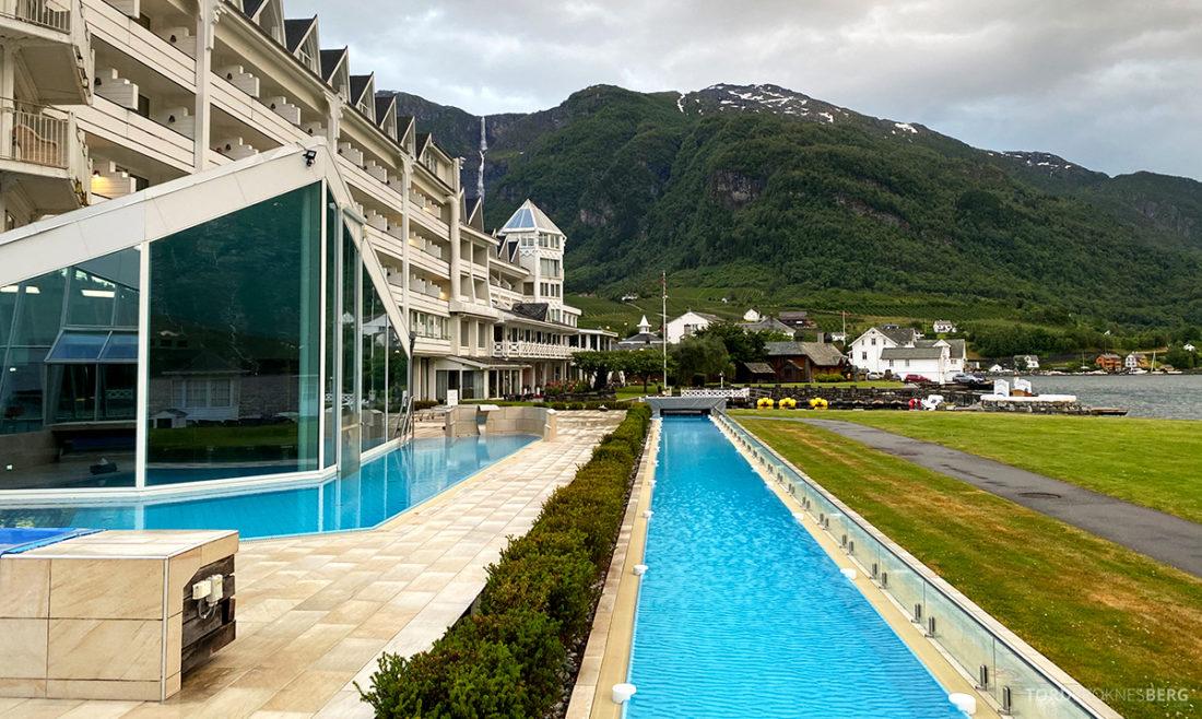 Hotel Ullensvang Hardanger Norge utendørs basseng