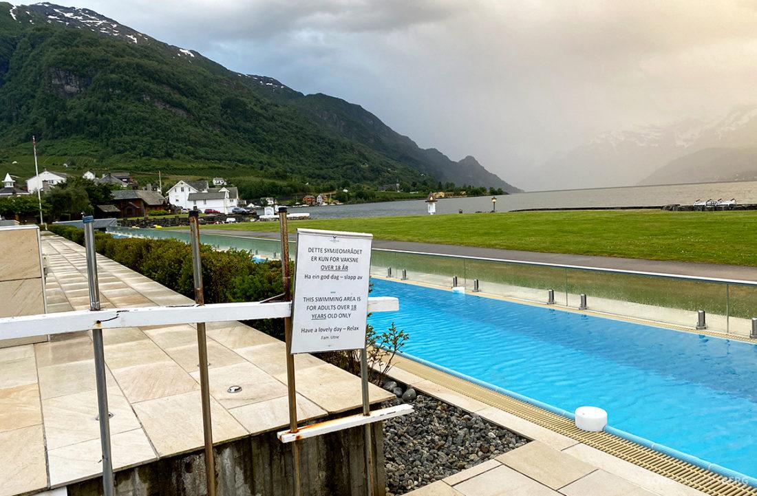Hotel Ullensvang Hardanger Norge voksenbasseng