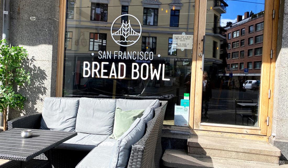 San Francisco Bread Bowl Restaurant Oslo sitteplass ute