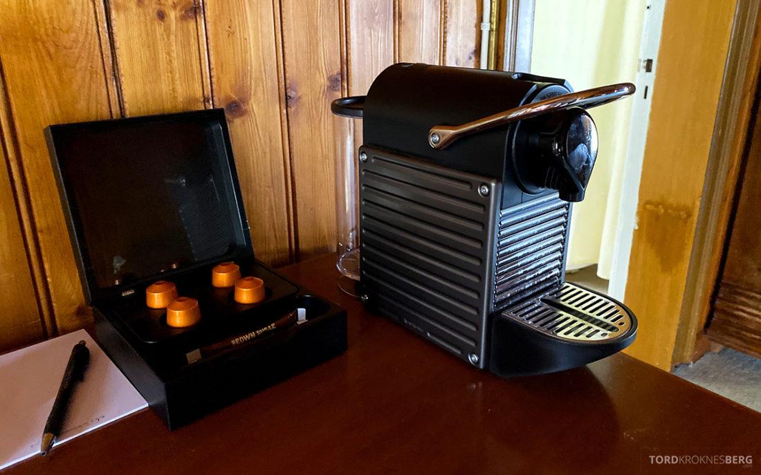Bårdshaug Herregård Hotel Orkanger kaffemaskin