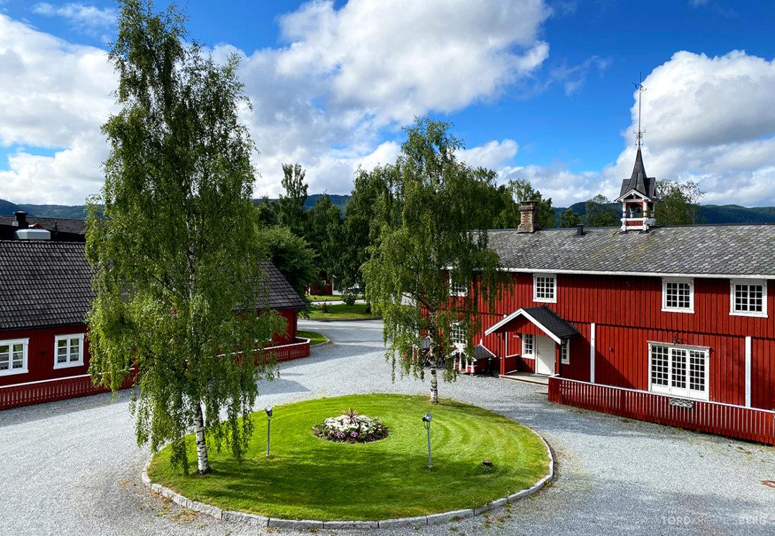 Bårdshaug Herregård Hotel Orkanger utsikt fellesbalkong