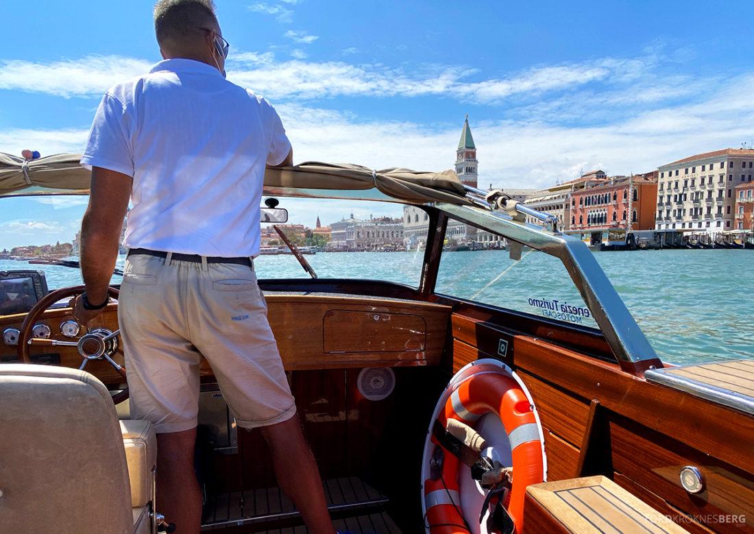 Grand Hotel Dei Dogi Venezia vanntaxi sjåfør
