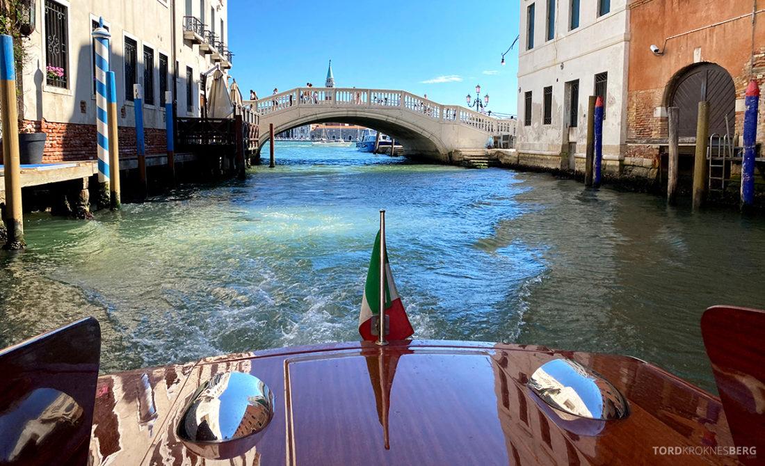 Grand Hotel Dei Dogi Venezia båt kanal