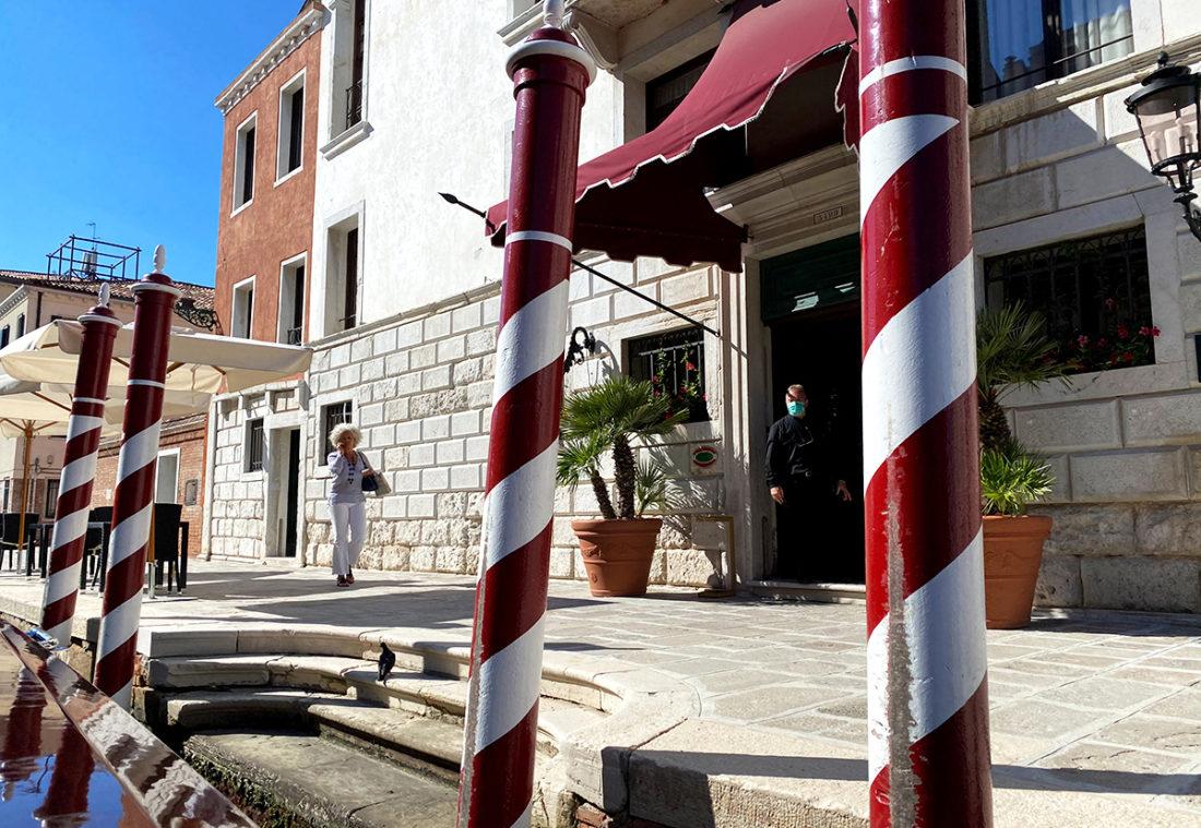 Grand Hotel Dei Dogi Venezia inngang fra kanal