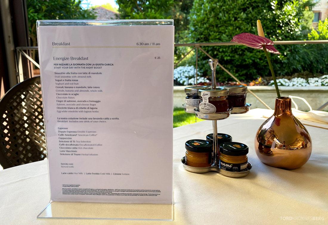 Grand Hotel Dei Dogi Venezia frokostmeny