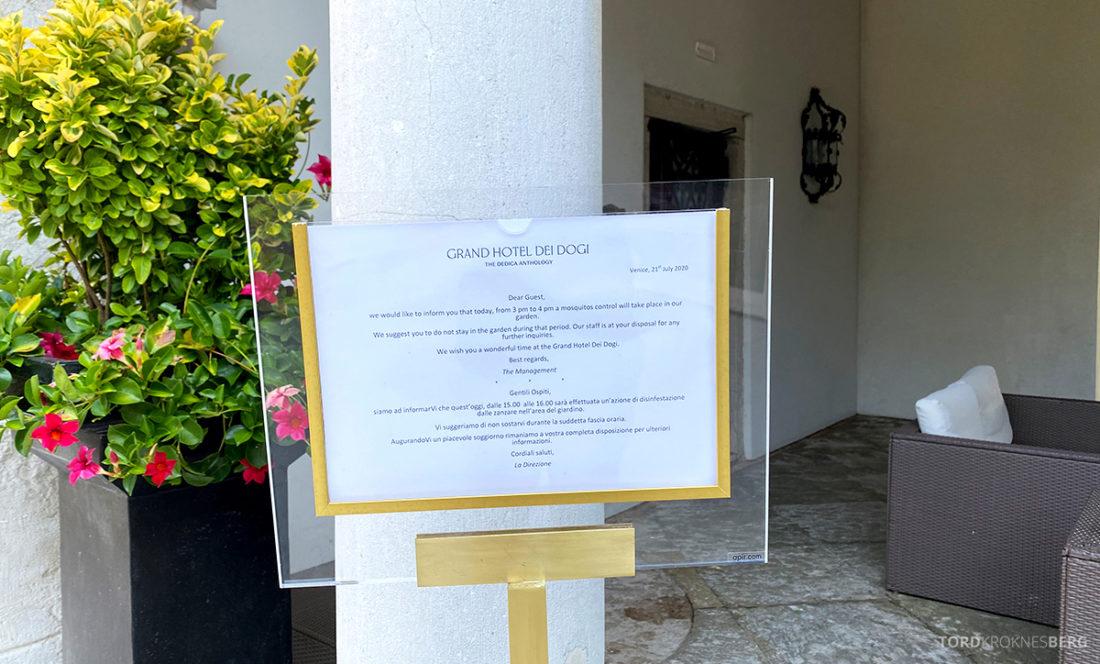 Grand Hotel Dei Dogi Venezia mosquito control
