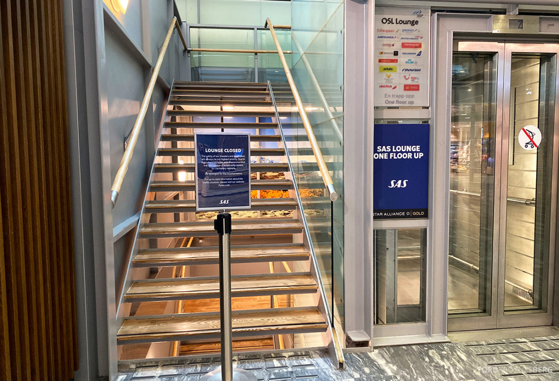 Lufthansa Economy Business Class Covid19 stengt lounge Gardermoen