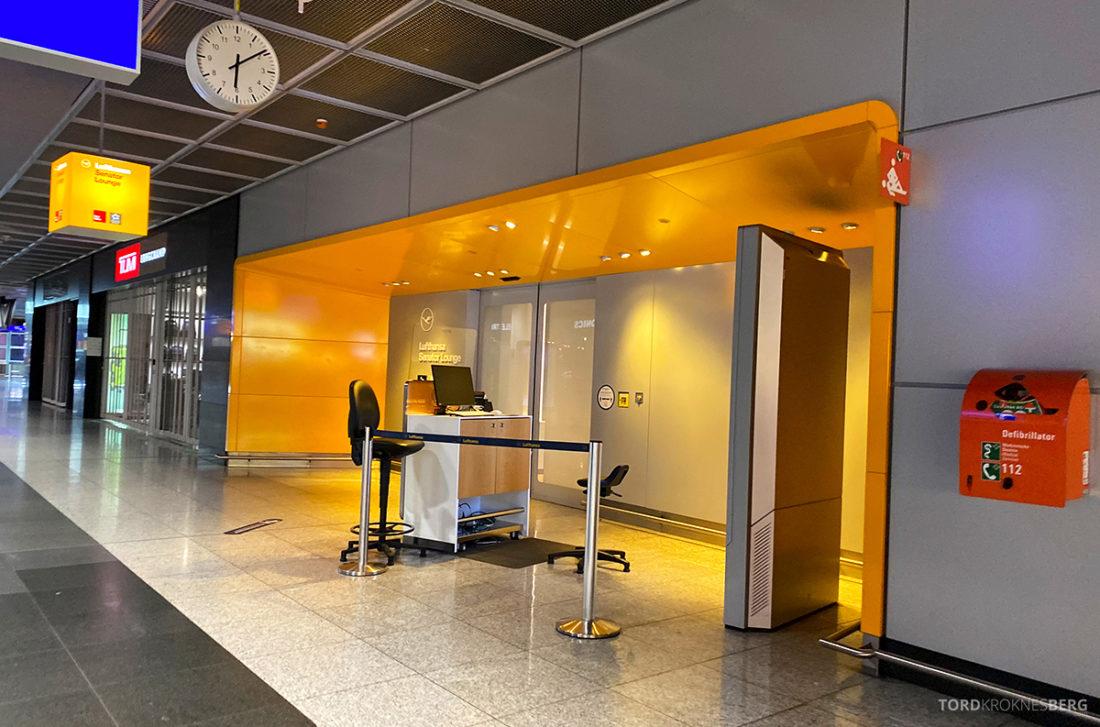Lufthansa Senator Lounge Frankfurt Covid19 inngang