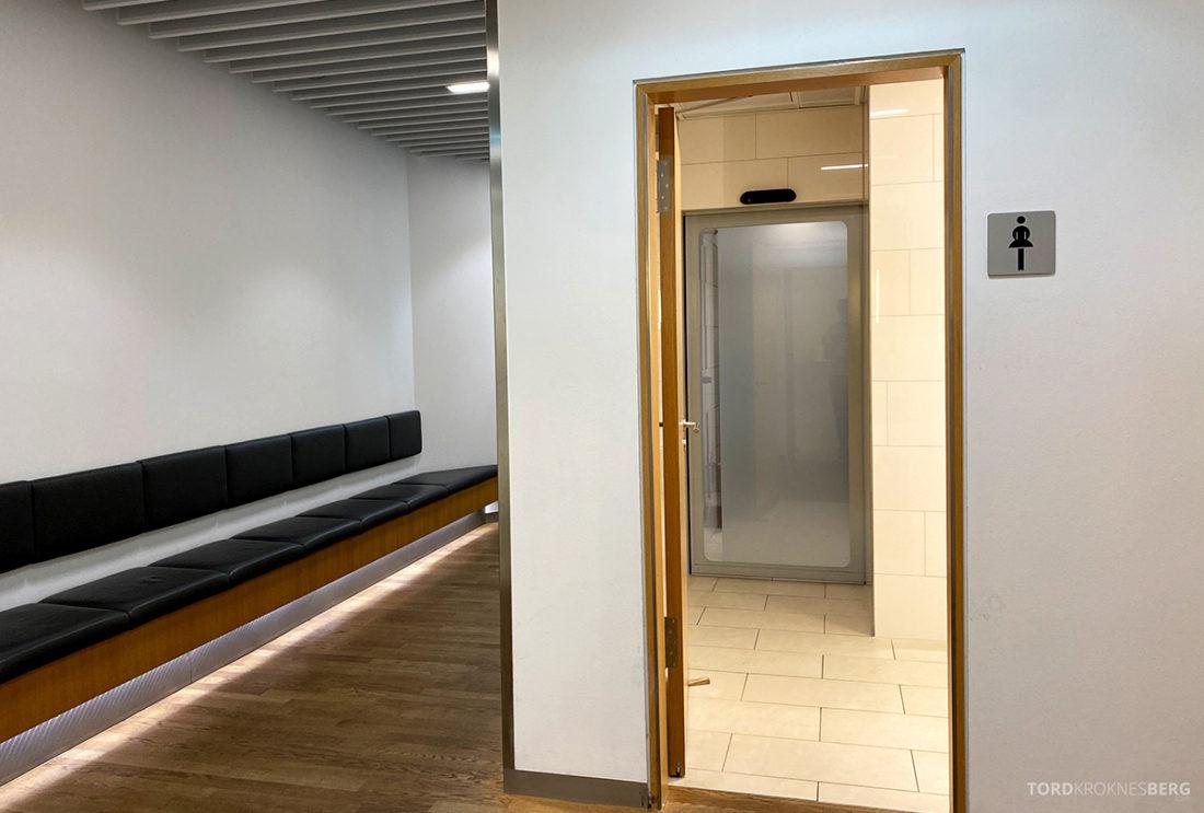 Lufthansa Senator Lounge Frankfurt Covid19 toalett
