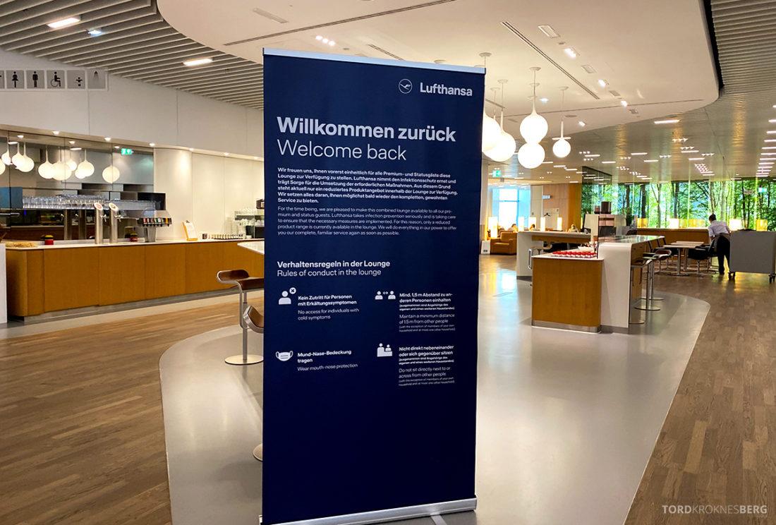 Lufthansa Senator Lounge Frankfurt Covid19 velkommen tilbak