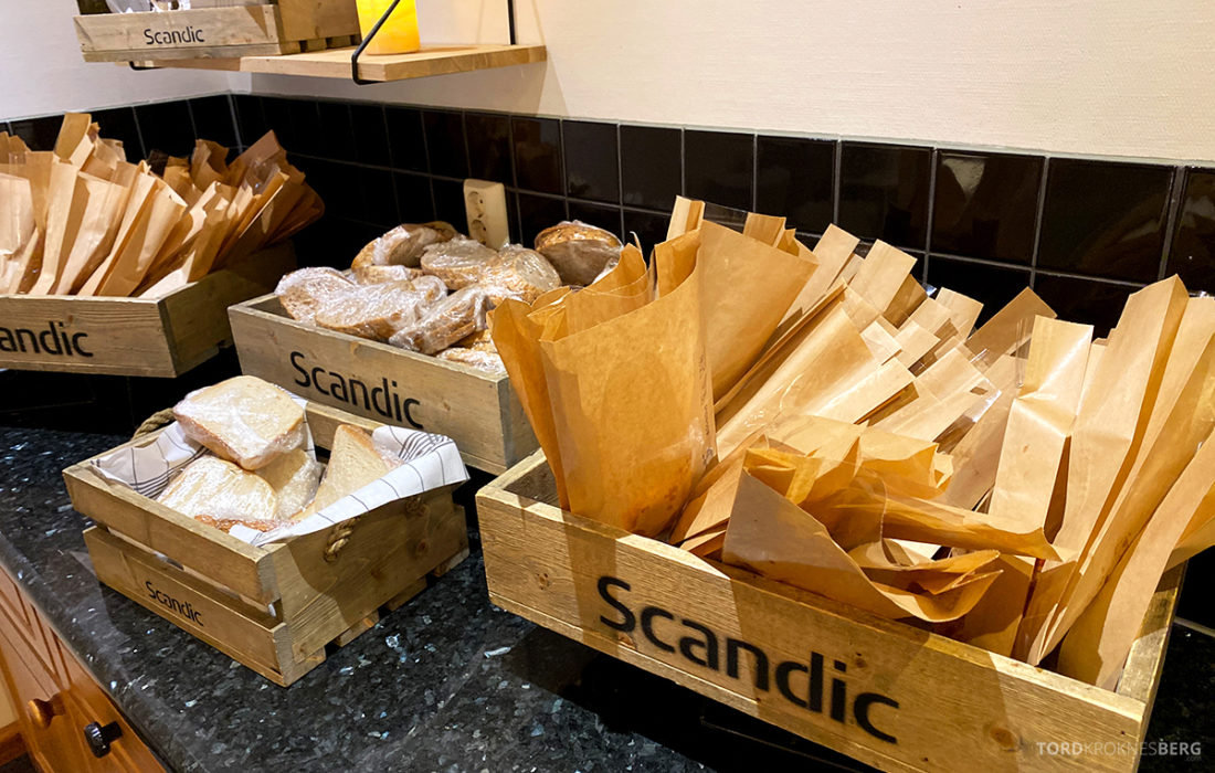 Scandic Alexandra Hotel Molde innpakket brød frokost