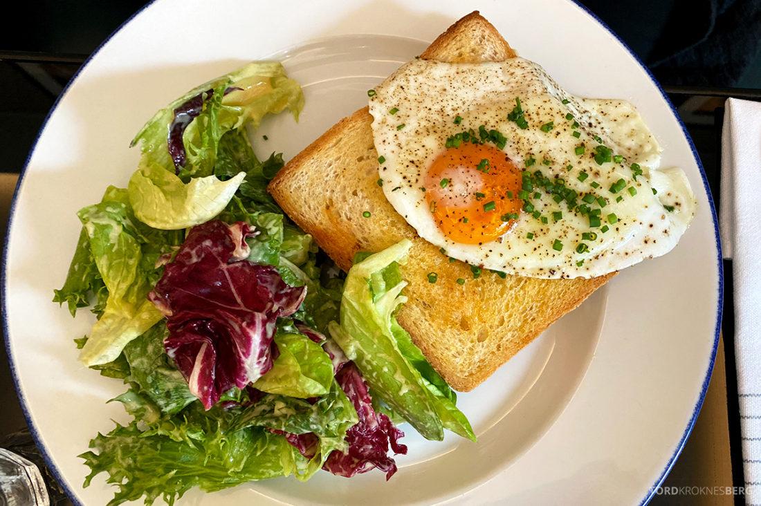 Brasserie Britannia Restaurant Trondheim croque madame