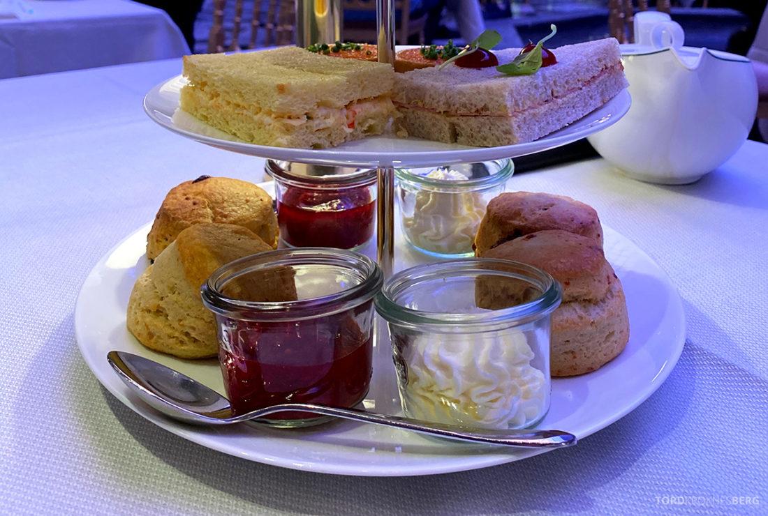 Britannia Hotel Trondheim scones og sandwich afternoon tea