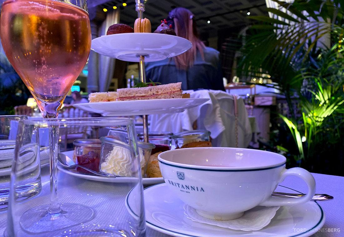Britannia Hotel Trondheim afternoon tea tårnfat